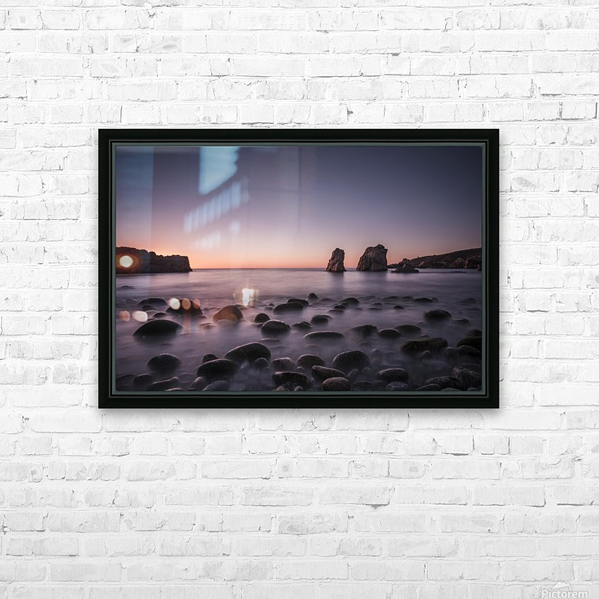 Carmel Sunset HD Sublimation Metal print with Decorating Float Frame (BOX)