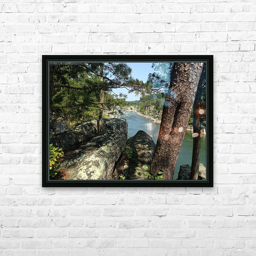 View of the Potomac at Great Falls HD Sublimation Metal print with Decorating Float Frame (BOX)