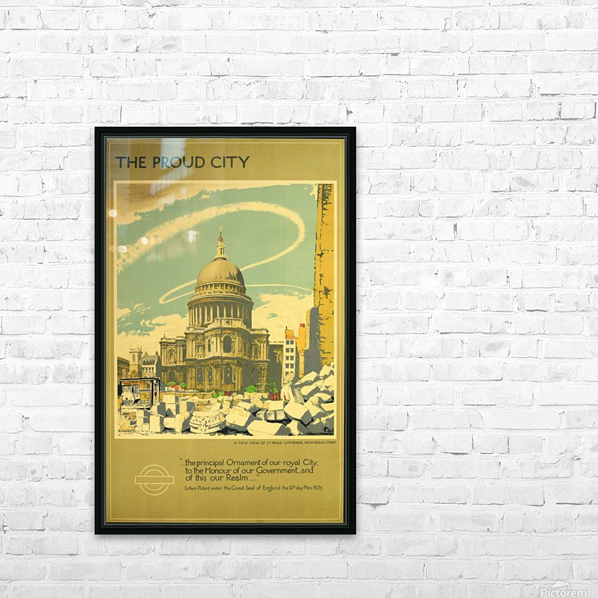 London Underground WW2 vintage poster HD Sublimation Metal print with Decorating Float Frame (BOX)