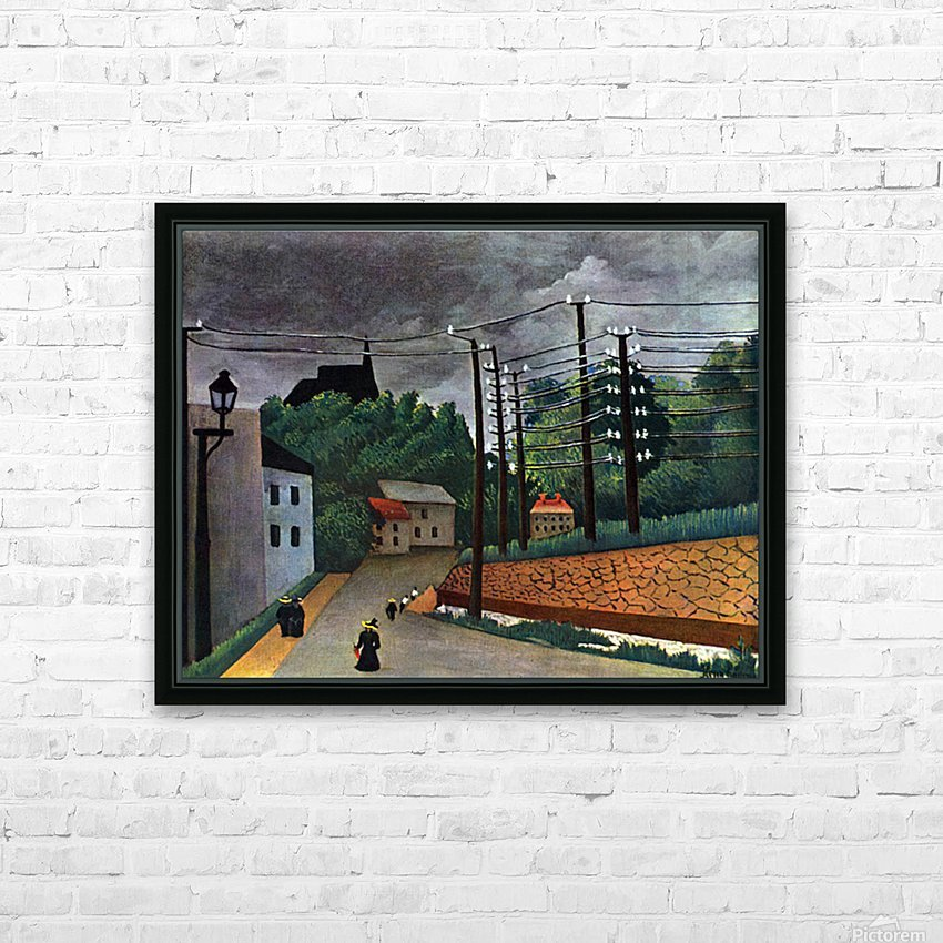 Malakoff by Henri Rousseau HD Sublimation Metal print with Decorating Float Frame (BOX)