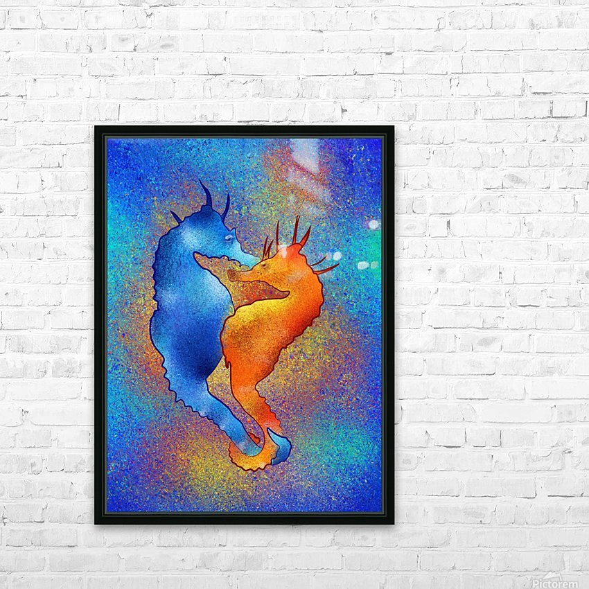 Tenimessa V1 - amazing seahorses HD Sublimation Metal print with Decorating Float Frame (BOX)