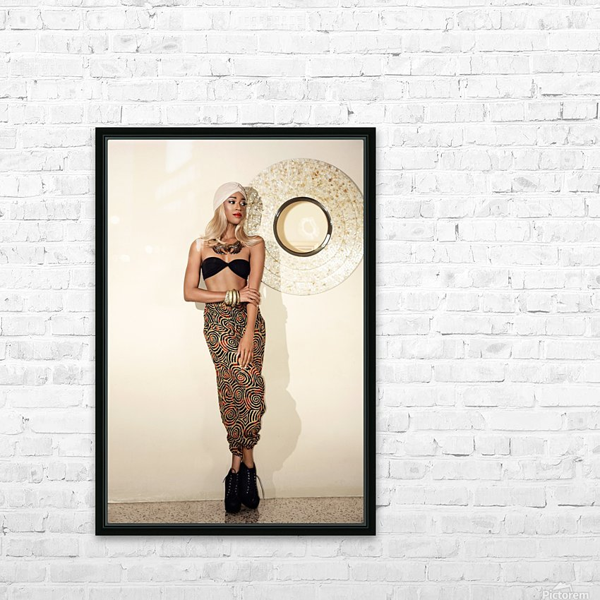 Turbanista HD Sublimation Metal print with Decorating Float Frame (BOX)