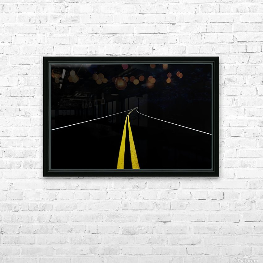 The Road to Nowhere HD Sublimation Metal print with Decorating Float Frame (BOX)