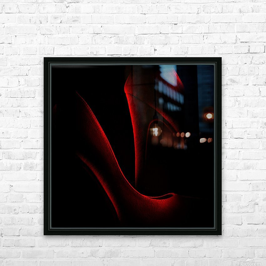 Shoe in Red HD Sublimation Metal print with Decorating Float Frame (BOX)