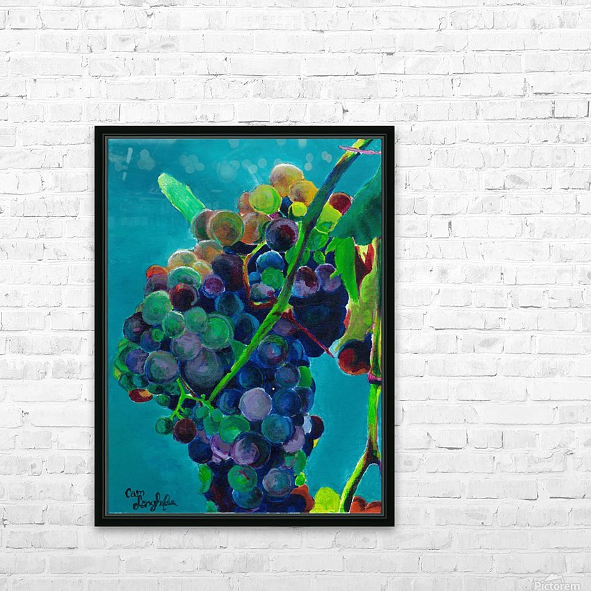 Grapes HD Sublimation Metal print with Decorating Float Frame (BOX)