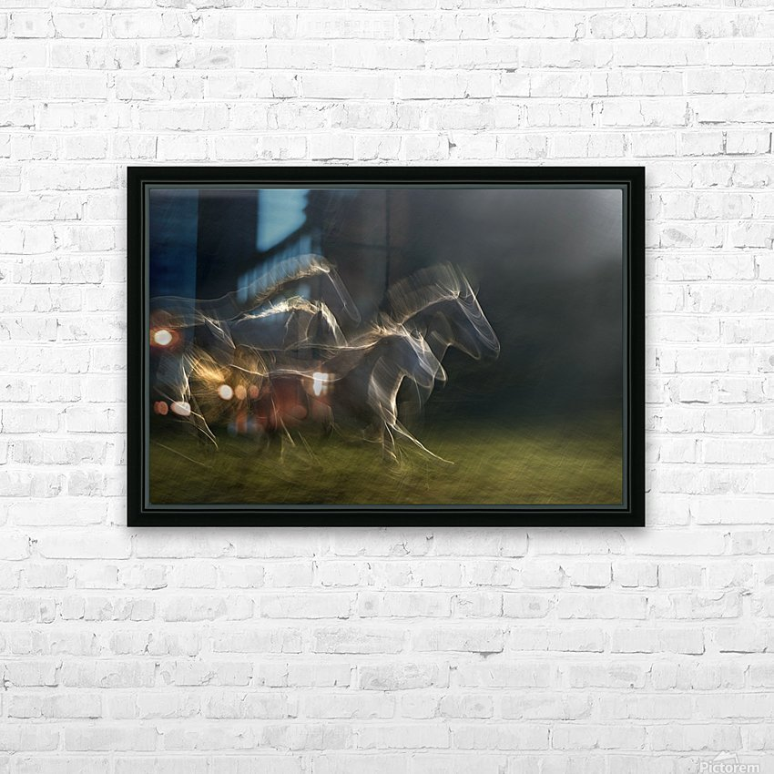 echoing in motion HD Sublimation Metal print with Decorating Float Frame (BOX)