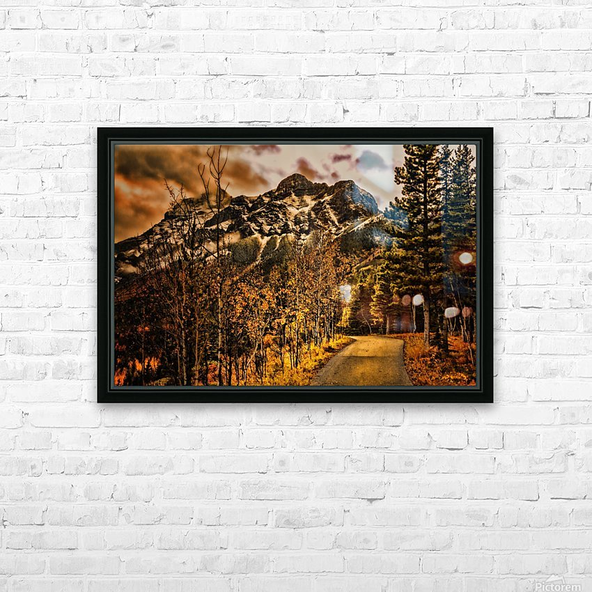 Rocky Mountain Way HD Sublimation Metal print with Decorating Float Frame (BOX)