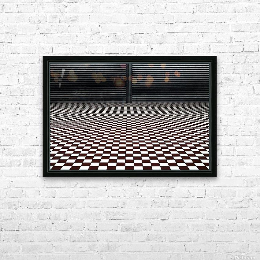 the hypnotic floor HD sublimation métal imprimé avec décoration flotteur cadre (boîte)