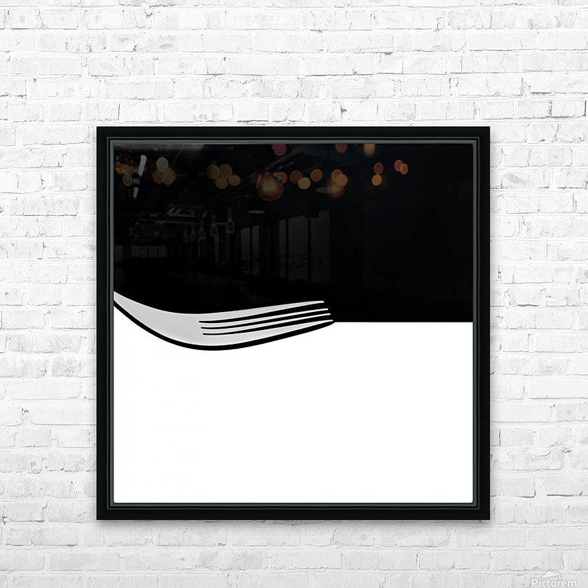 Minimal Abstraction HD Sublimation Metal print with Decorating Float Frame (BOX)