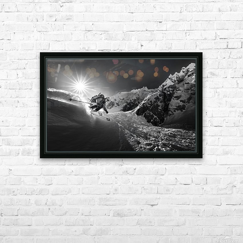 Snow splash over the edge HD Sublimation Metal print with Decorating Float Frame (BOX)