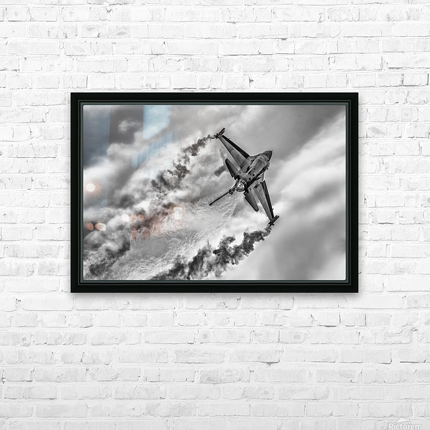 F-16 Solo Turk... HD Sublimation Metal print with Decorating Float Frame (BOX)
