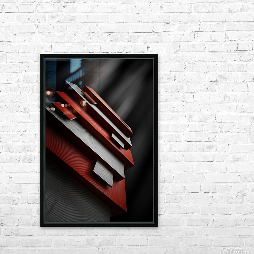 red&white HD Sublimation Metal print with Decorating Float Frame (BOX)