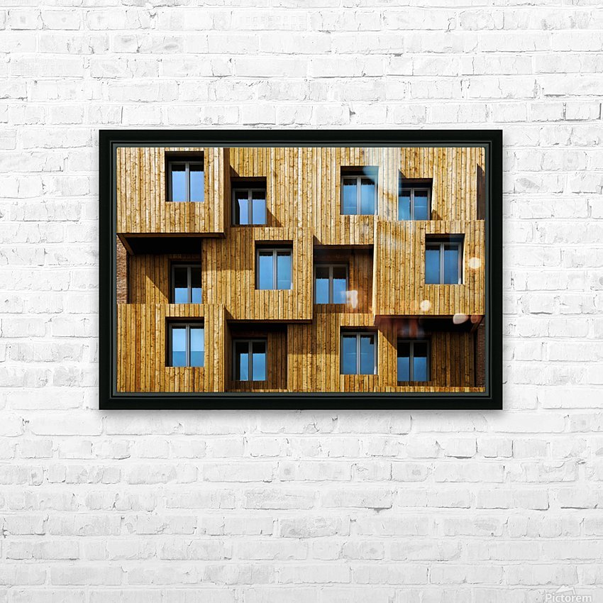Little boxes HD Sublimation Metal print with Decorating Float Frame (BOX)