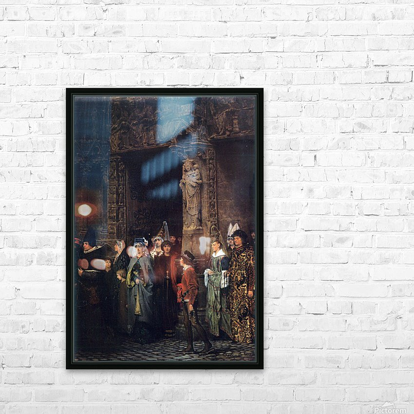 Leaving a church in the 15th Century by Alma-Tadema HD Sublimation Metal print with Decorating Float Frame (BOX)