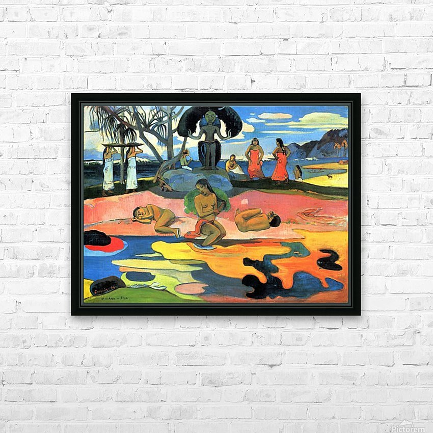 Mohana no Atua by Gauguin HD Sublimation Metal print with Decorating Float Frame (BOX)