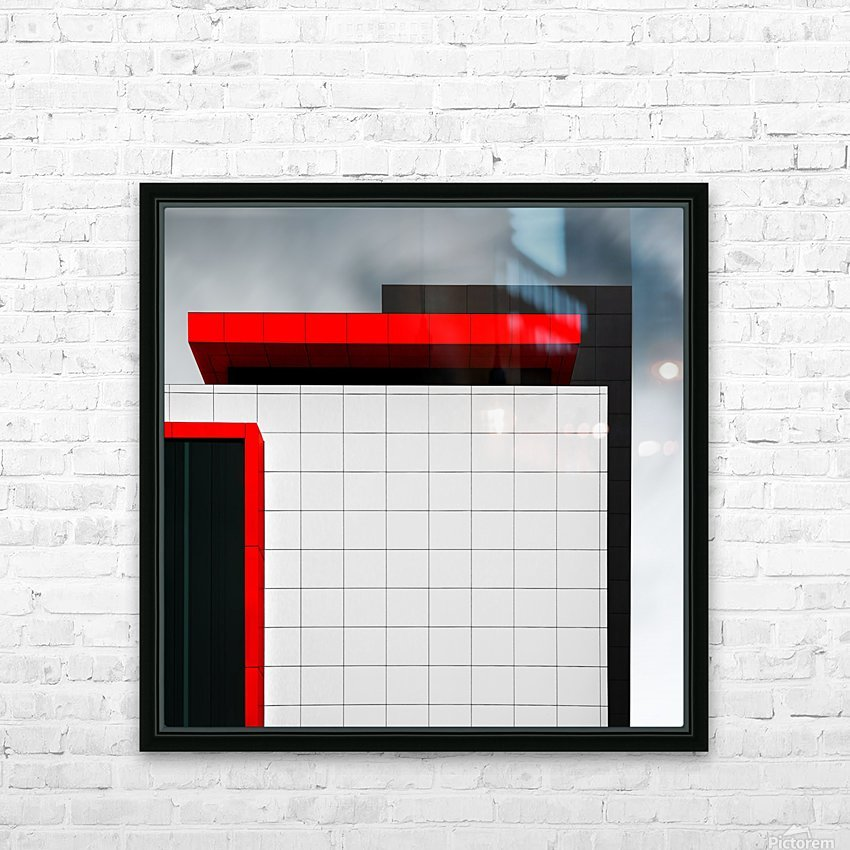 structure wal HD Sublimation Metal print with Decorating Float Frame (BOX)