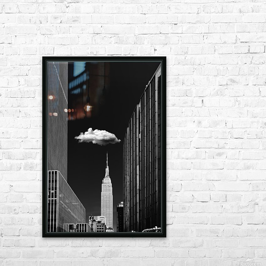 Single Cloud HD Sublimation Metal print with Decorating Float Frame (BOX)