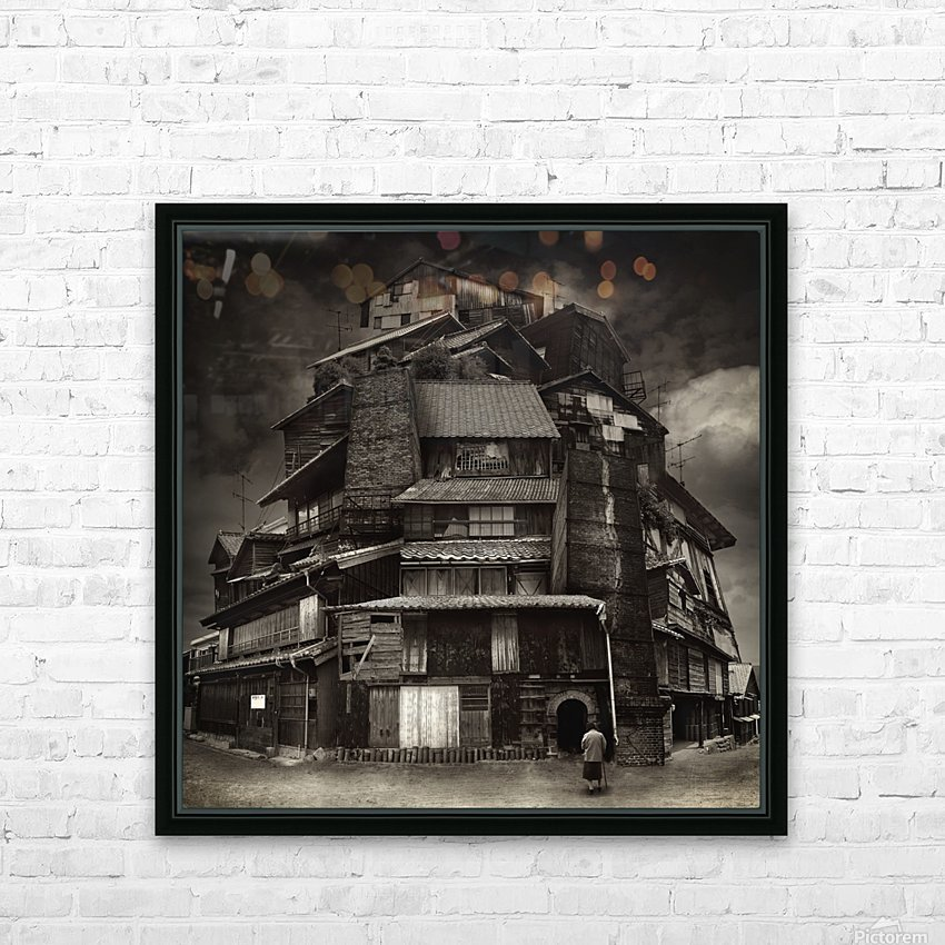 Big old house HD Sublimation Metal print with Decorating Float Frame (BOX)