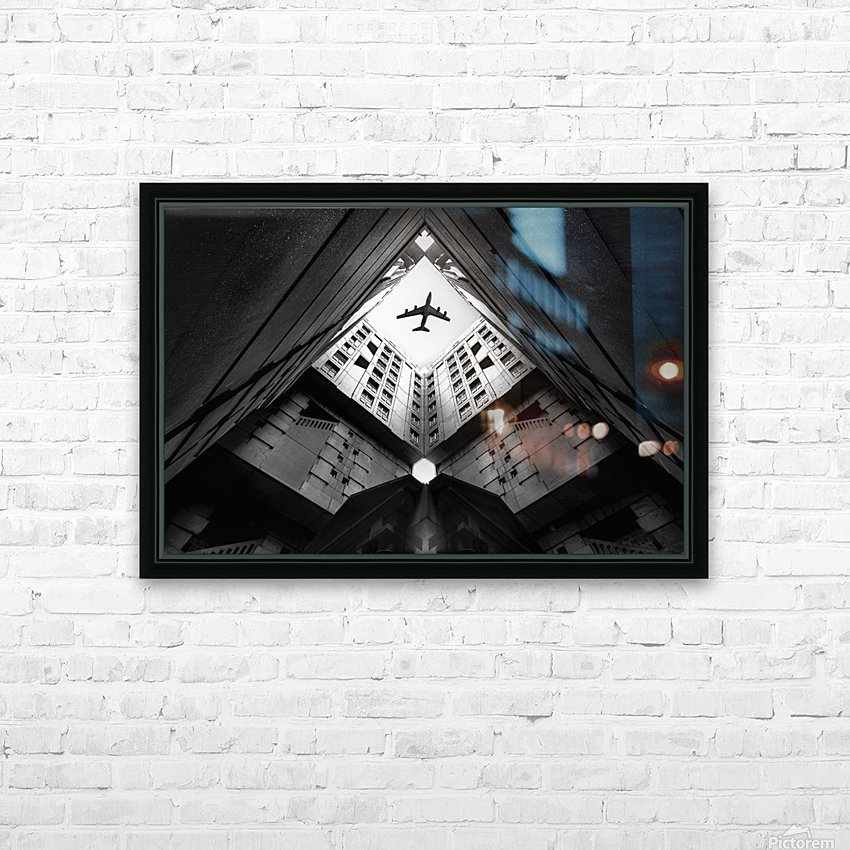 Plane city HD Sublimation Metal print with Decorating Float Frame (BOX)