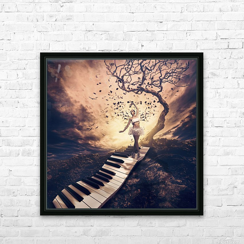 Rhapsody HD Sublimation Metal print with Decorating Float Frame (BOX)