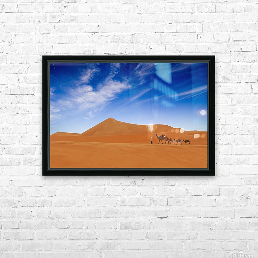 Desert Life .. HD Sublimation Metal print with Decorating Float Frame (BOX)