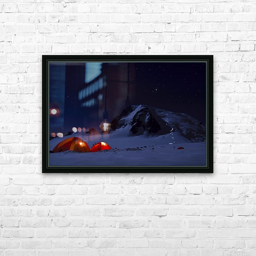 Alpine Start HD Sublimation Metal print with Decorating Float Frame (BOX)