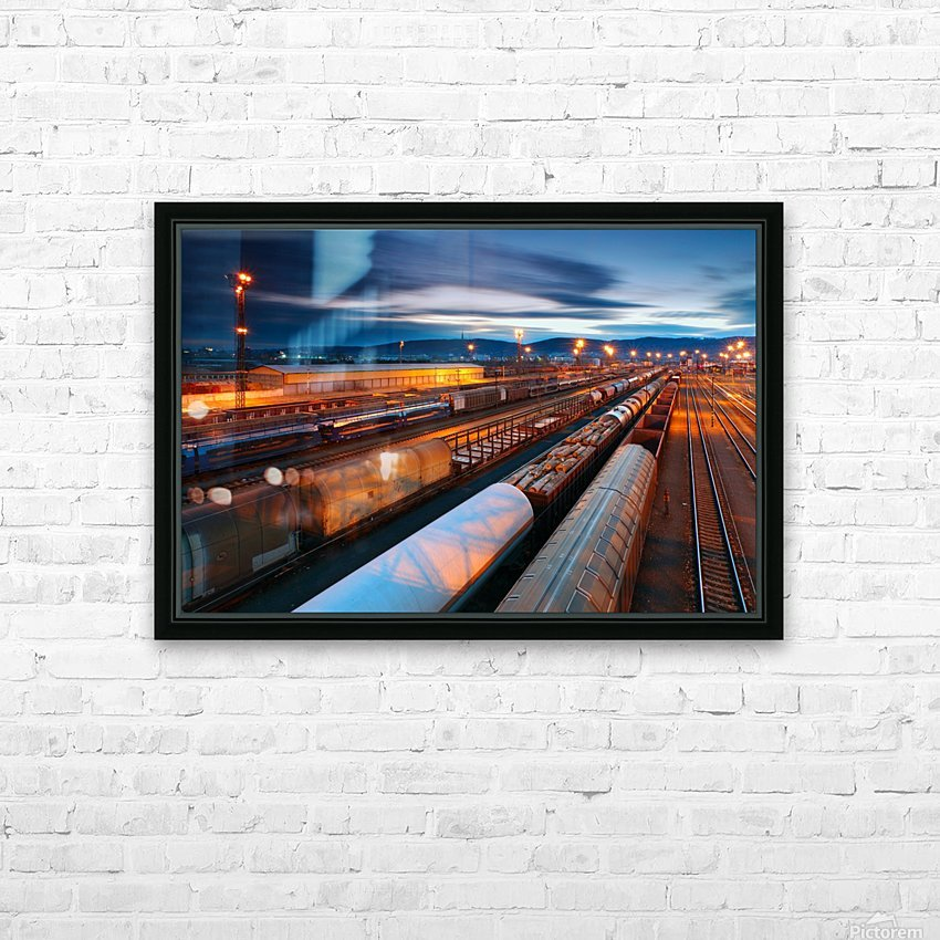 Freight station HD Sublimation Metal print with Decorating Float Frame (BOX)