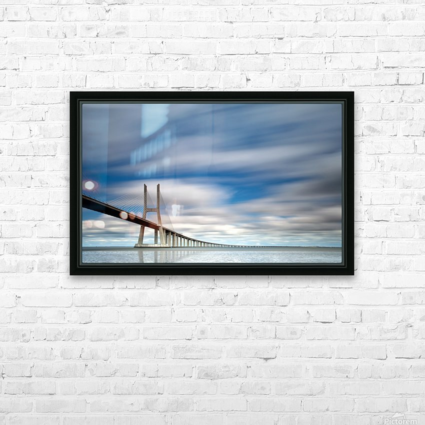 in BLUE HD Sublimation Metal print with Decorating Float Frame (BOX)