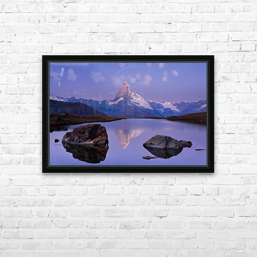 The first touch HD Sublimation Metal print with Decorating Float Frame (BOX)