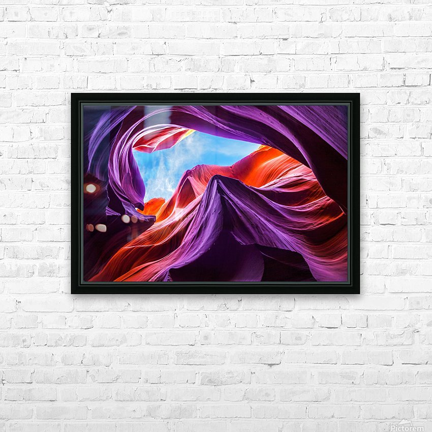 Magical Lower Antelope Canyon HD Sublimation Metal print with Decorating Float Frame (BOX)