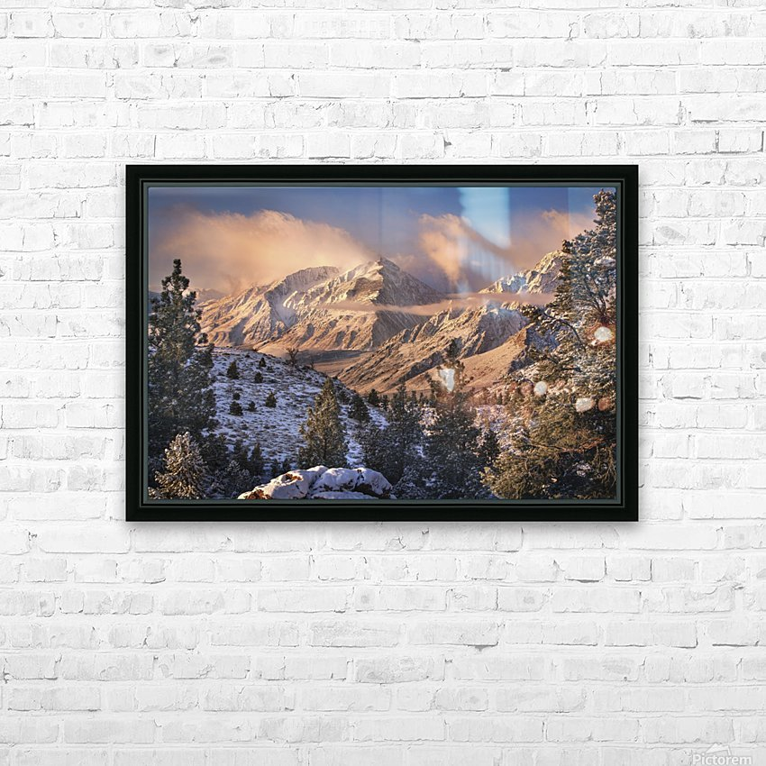 Mountain Light HD Sublimation Metal print with Decorating Float Frame (BOX)