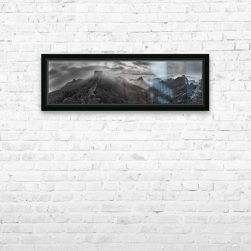 Misty Morning at Great Wall HD Sublimation Metal print with Decorating Float Frame (BOX)