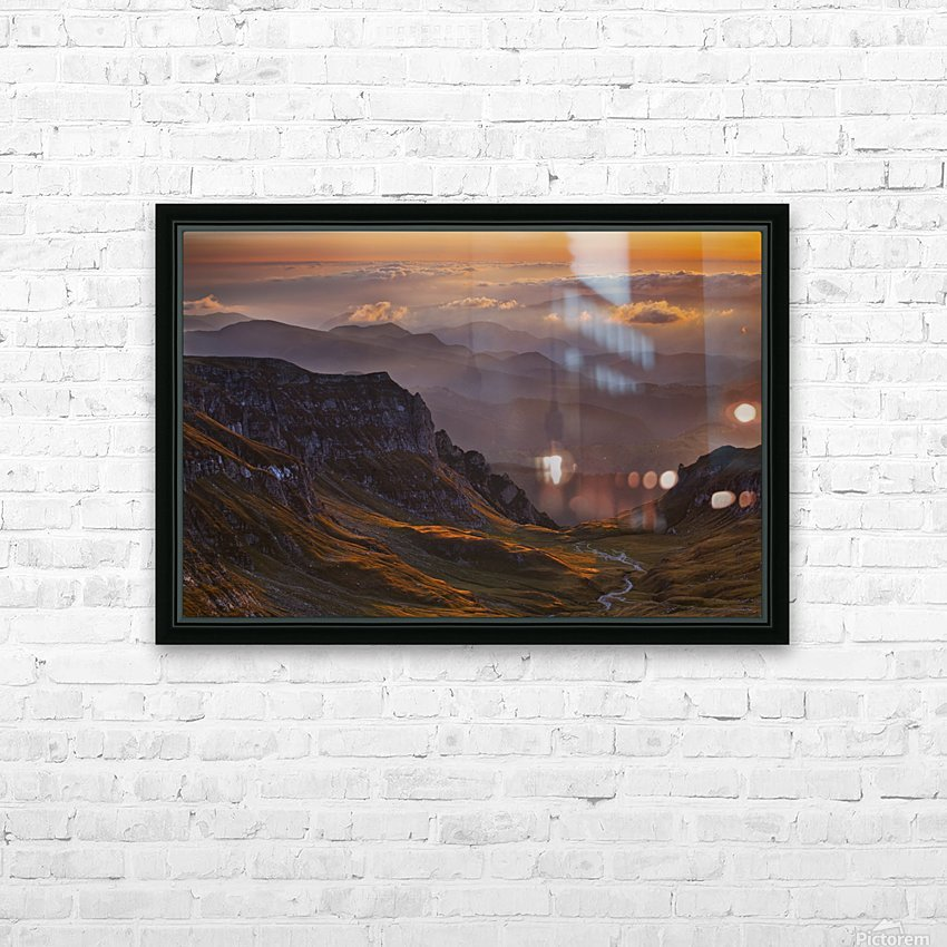 vantage point HD Sublimation Metal print with Decorating Float Frame (BOX)