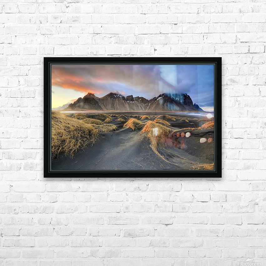 Vestrahorn HD Sublimation Metal print with Decorating Float Frame (BOX)