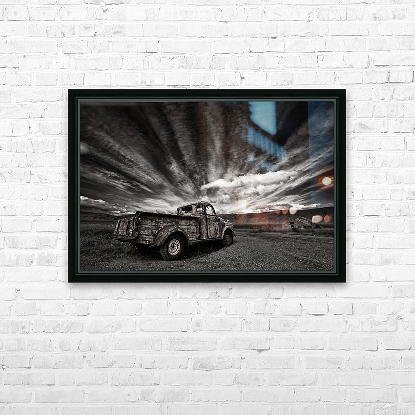 Old Truck (mono) HD Sublimation Metal print with Decorating Float Frame (BOX)