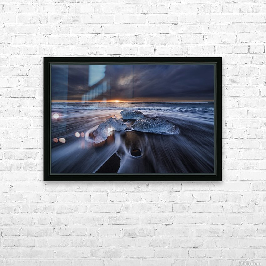 Wild Ice II HD Sublimation Metal print with Decorating Float Frame (BOX)