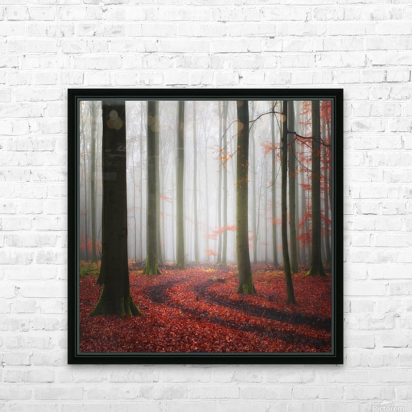 Autumnal Tracks HD Sublimation Metal print with Decorating Float Frame (BOX)