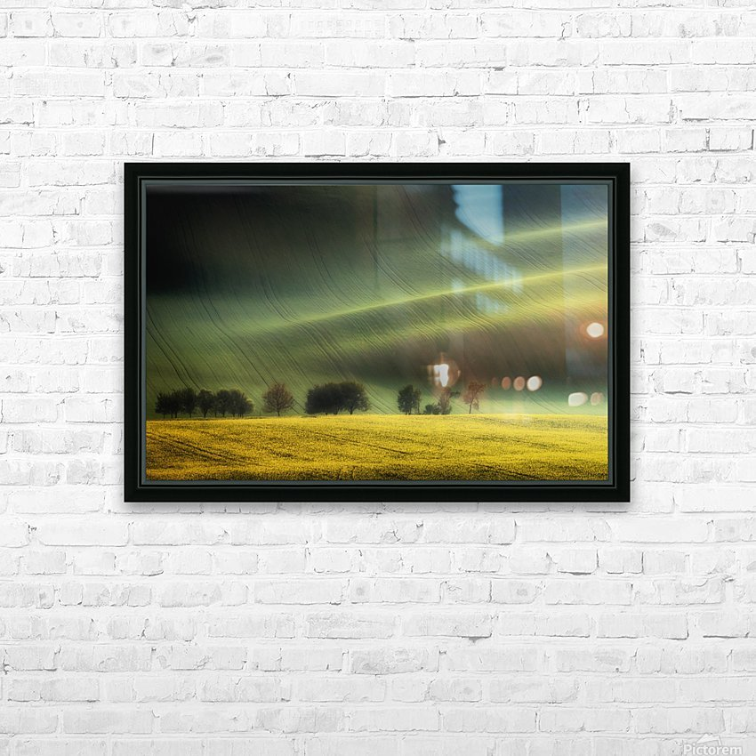 spring fields HD Sublimation Metal print with Decorating Float Frame (BOX)