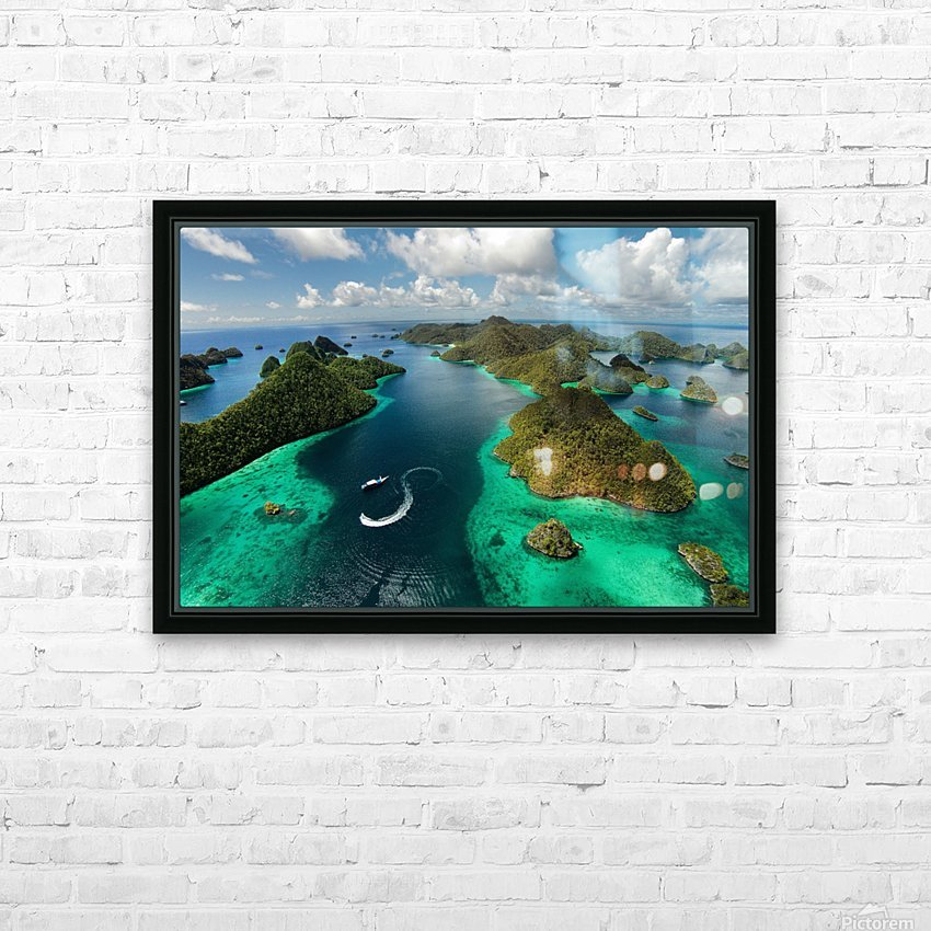 Green paradise HD Sublimation Metal print with Decorating Float Frame (BOX)