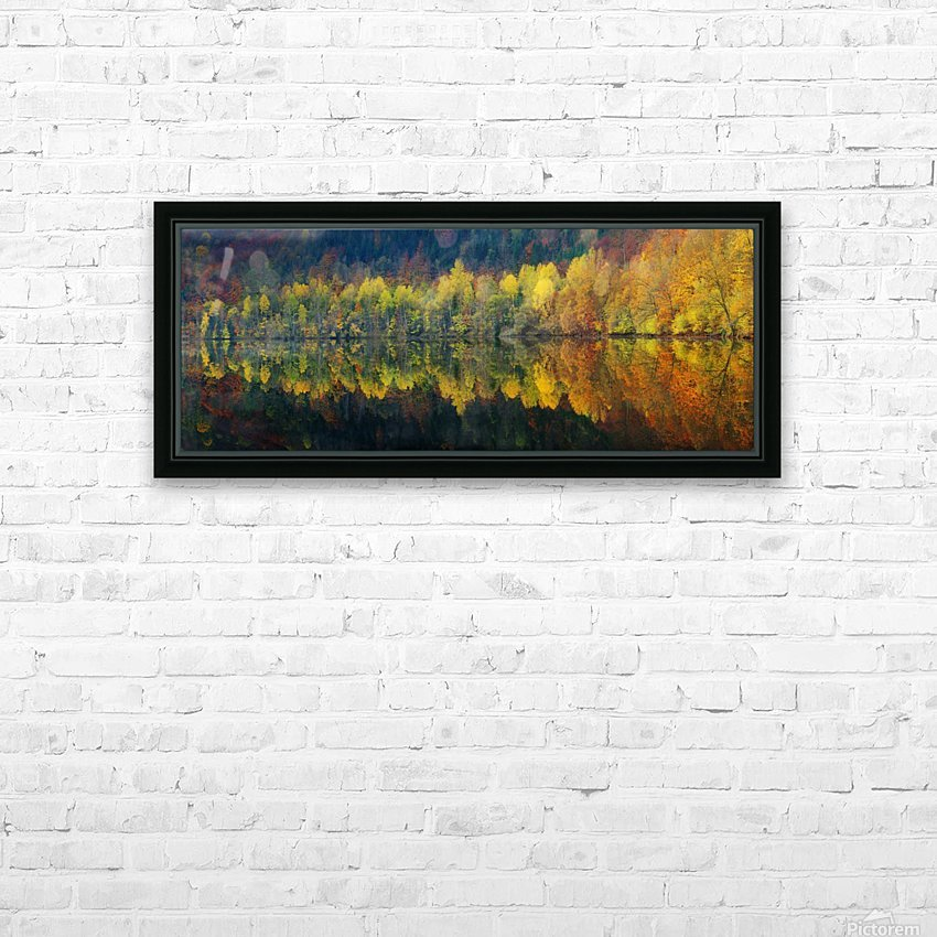 Autumnal silence HD Sublimation Metal print with Decorating Float Frame (BOX)