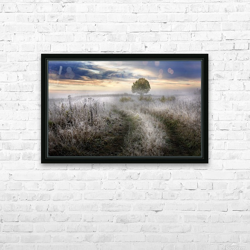 Frosty Morning HD Sublimation Metal print with Decorating Float Frame (BOX)