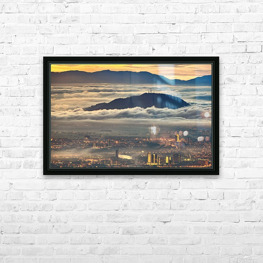 Between heaven and earth HD Sublimation Metal print with Decorating Float Frame (BOX)