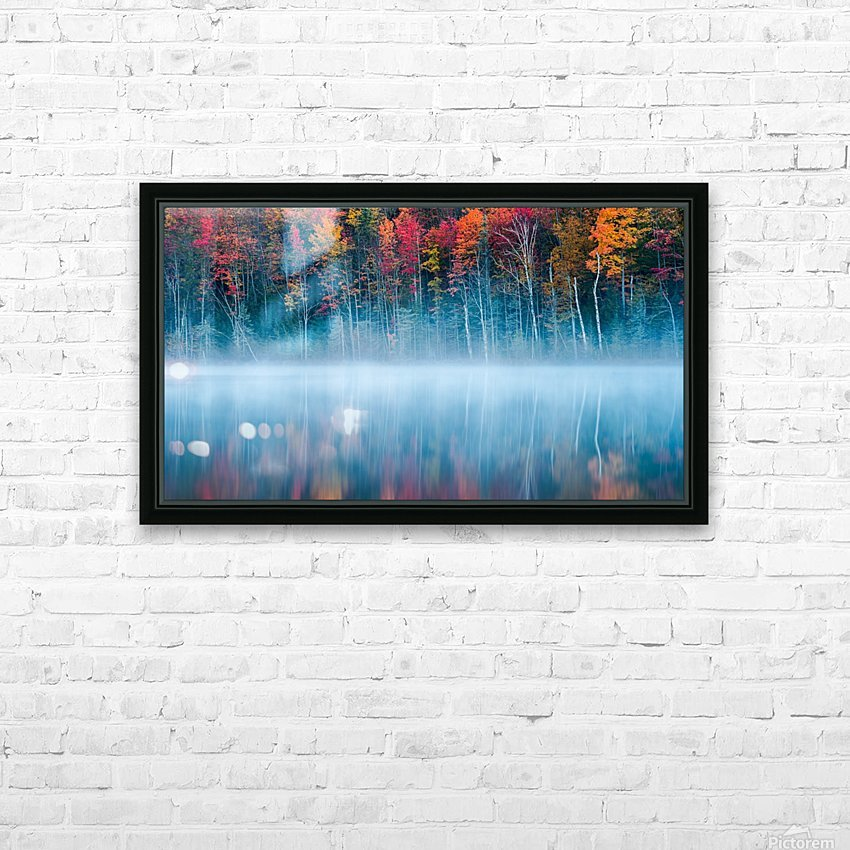Morning Reflection HD Sublimation Metal print with Decorating Float Frame (BOX)
