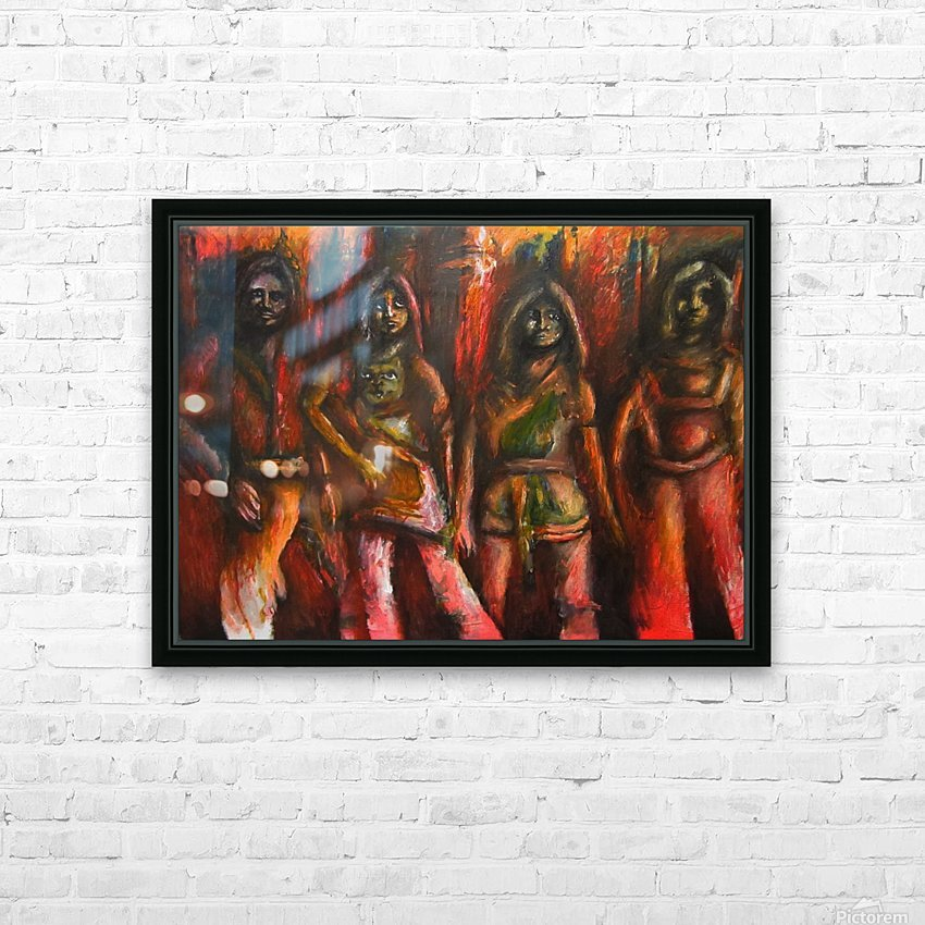 Bad ABBA HD Sublimation Metal print with Decorating Float Frame (BOX)
