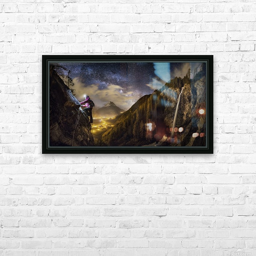 The Climb HD Sublimation Metal print with Decorating Float Frame (BOX)