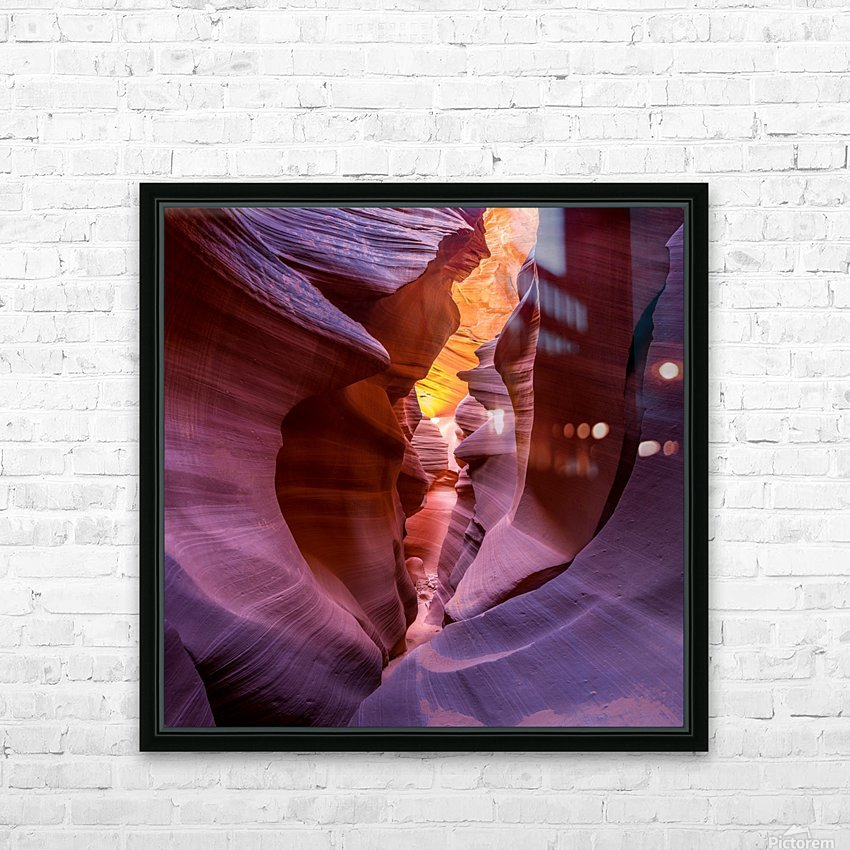 Fire in Canyon HD Sublimation Metal print with Decorating Float Frame (BOX)