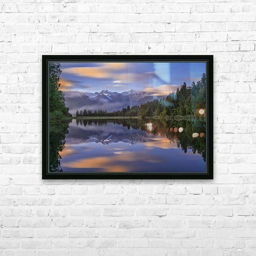 Lake Matheson HD Sublimation Metal print with Decorating Float Frame (BOX)