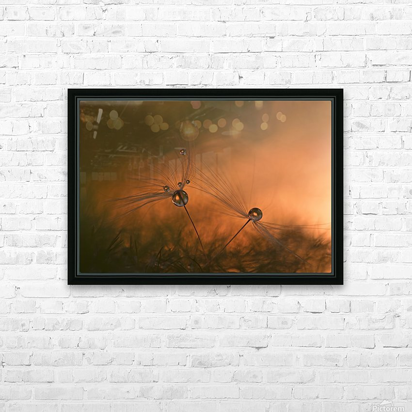 Forest fire HD Sublimation Metal print with Decorating Float Frame (BOX)