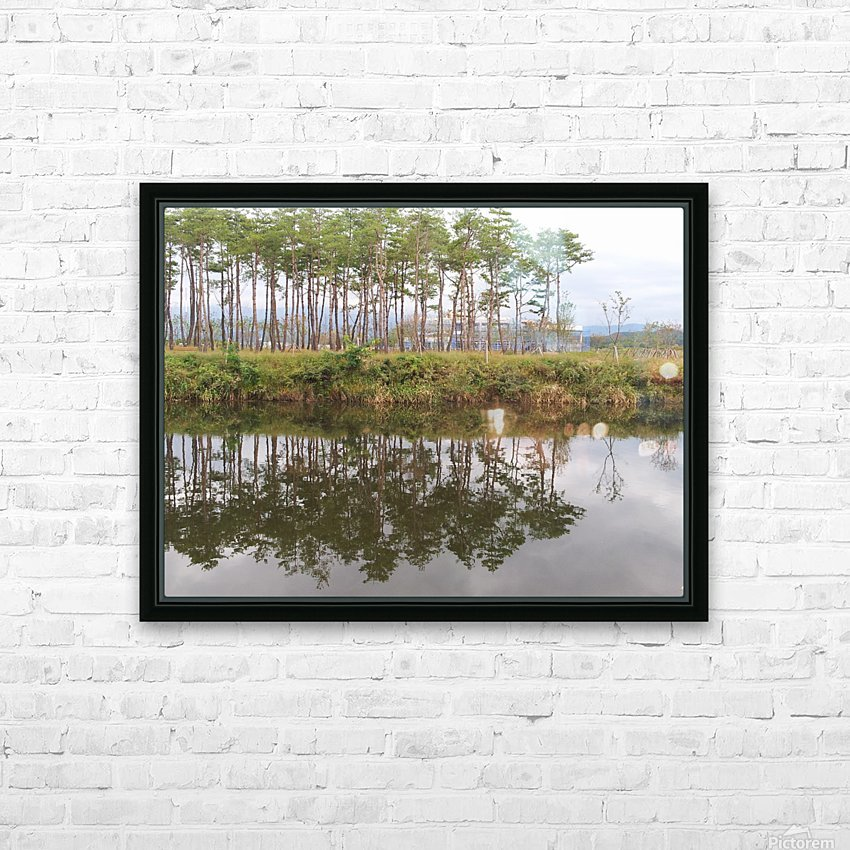 Sky, Water & Trees HD Sublimation Metal print with Decorating Float Frame (BOX)