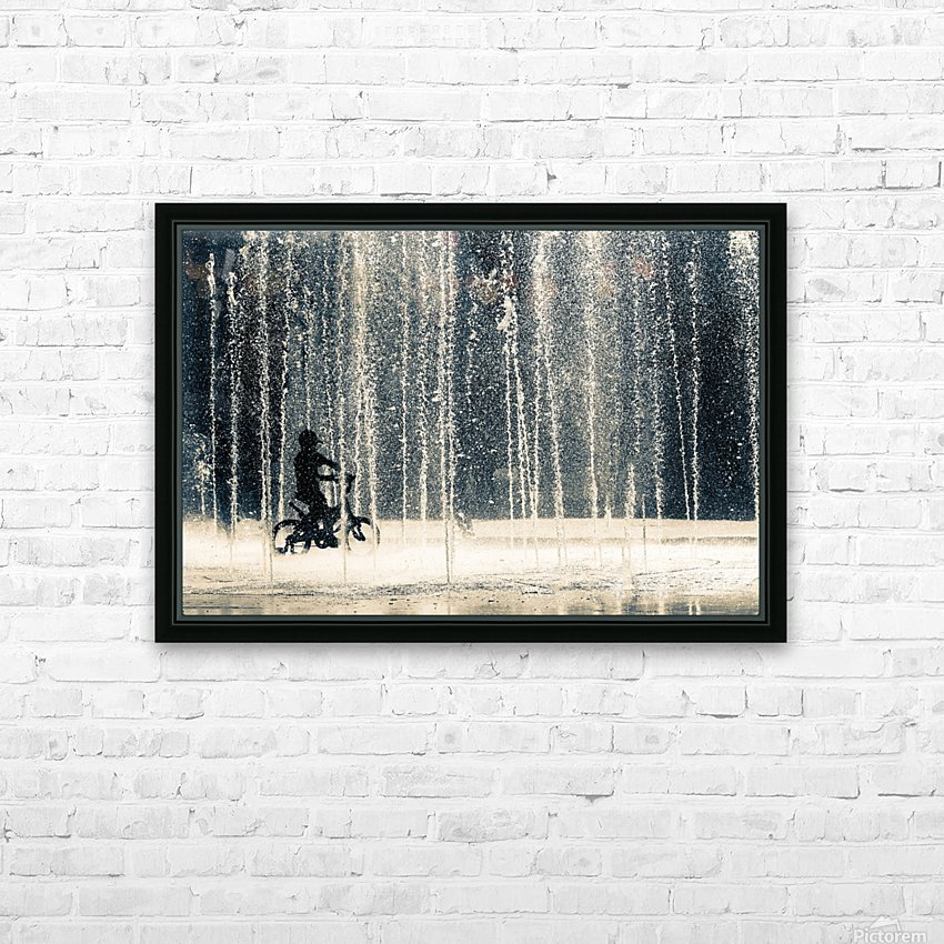 Ride through the drops HD Sublimation Metal print with Decorating Float Frame (BOX)